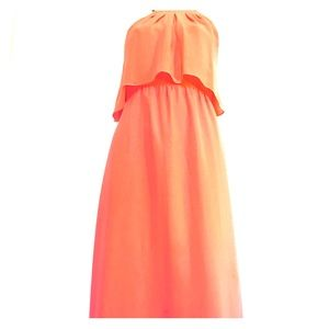 Weddings, events & occasion. Peach long size8. HOT